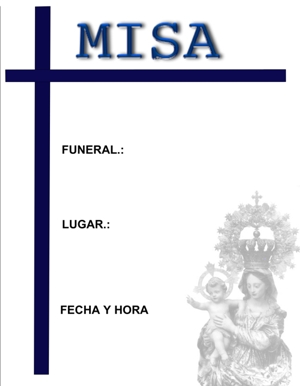 Anuncio Funeral - Funeraria Peris